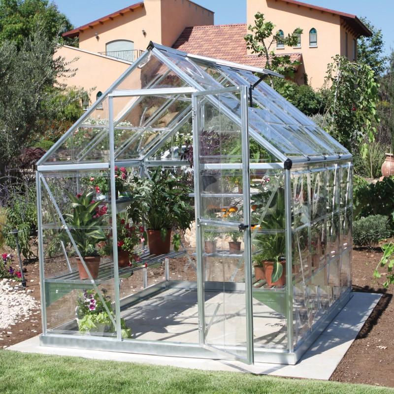 Serre De Jardin En Alu Et Polycarbonate 4,6M² Harmony intérieur Serre De Jardin Polycarbonate
