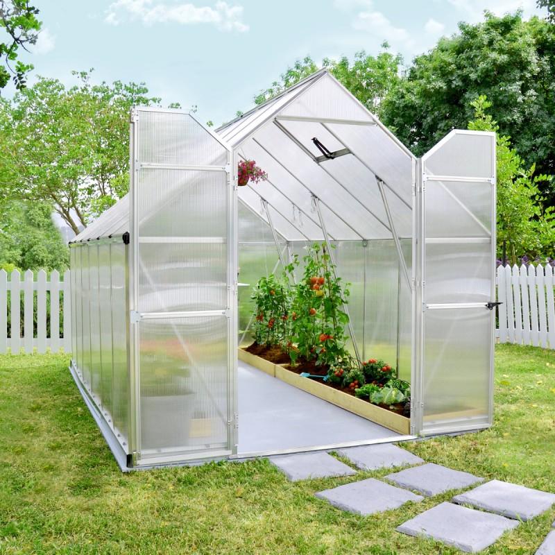 Serre De Jardin En Alu Et Polycarbonate 8,9M² Essence dedans Serre De Jardin Polycarbonate