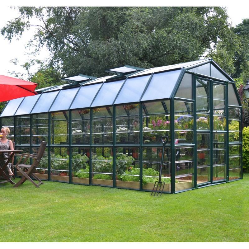 Serre De Jardin En Pvc Et Polycarbonate 13,72M² Grand concernant Serre De Jardin Polycarbonate