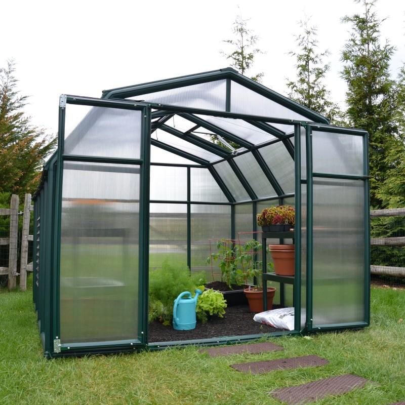 Serre De Jardin En Pvc Et Polycarbonate 7,07M² Hobby pour Serre De Jardin Polycarbonate
