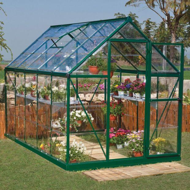 Serre De Jardin Harmony 5.7 M² Polycarbonate - Palram 2 serapportantà Serre De Jardin Polycarbonate