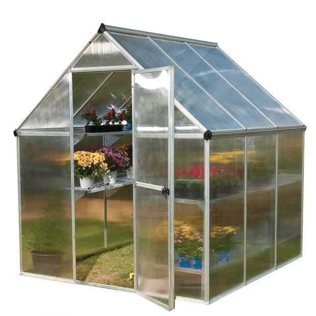 Serre De Jardin Mythos Polycarbonate 3,40 M2 + Embase à Serre De Jardin Polycarbonate