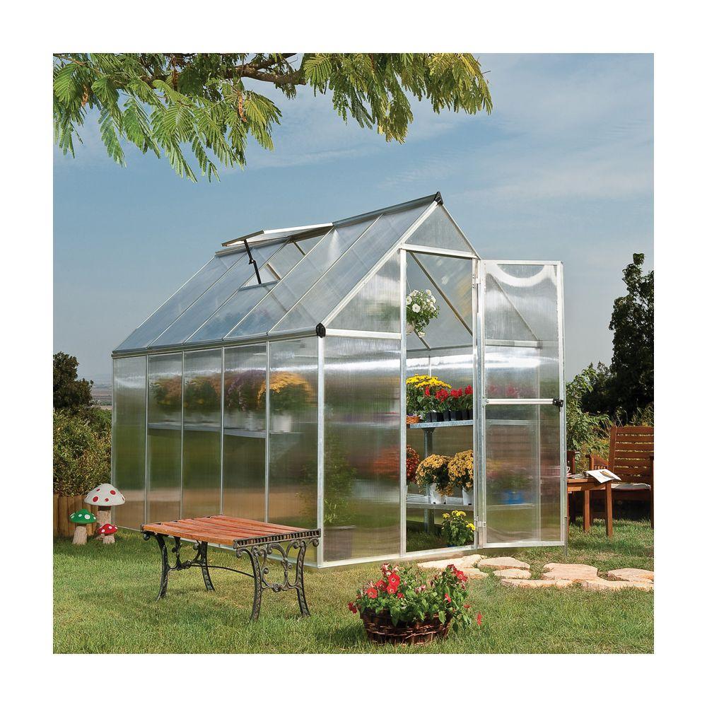 Serre De Jardin Mythos Polycarbonate 5,70 M² + Embase intérieur Serre De Jardin Polycarbonate