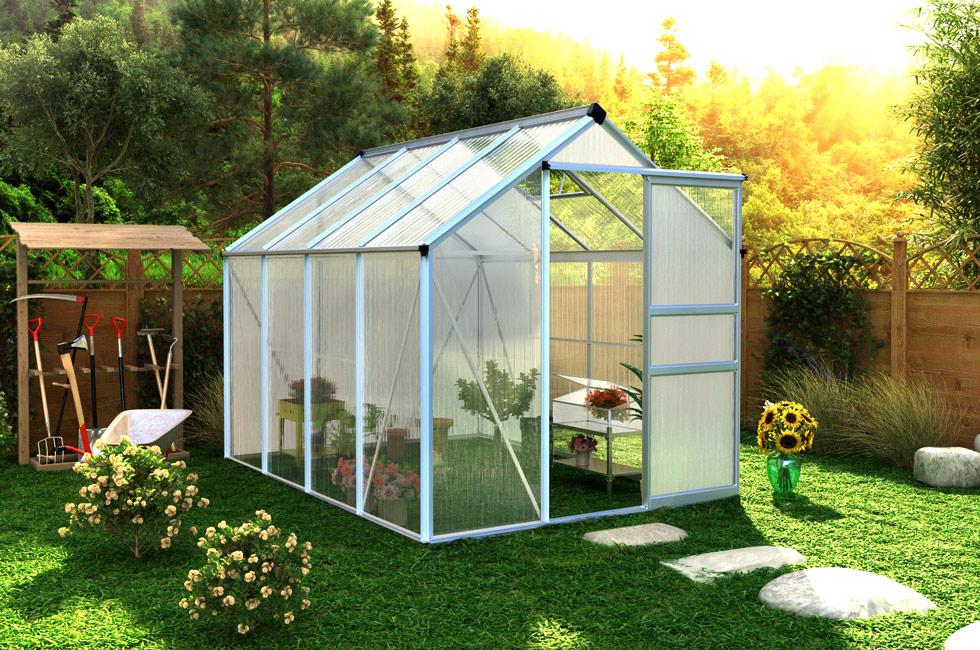 Serre De Jardin Polycarbonate 4,8 M² - Oogarden encequiconcerne Serre De Jardin Polycarbonate