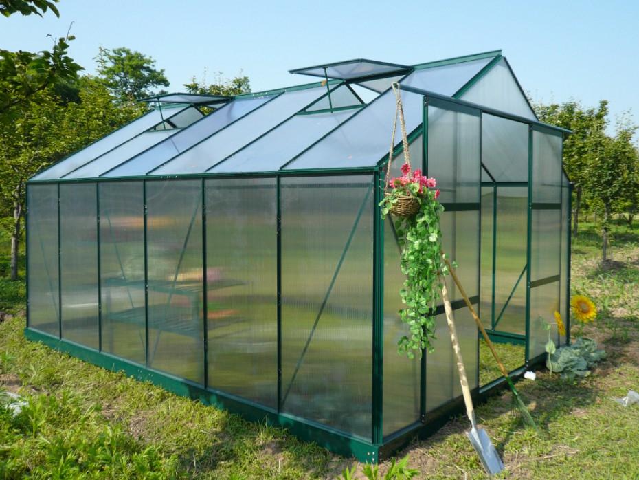 Serre Jardin Polycarbonate 13M² Kalida Avec Embase En tout Ma Serre De Jardin