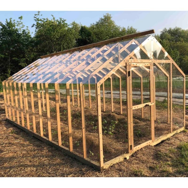 Serre Lancelot 20M² En Bois Et Polycarbonate Avec Montage pour Ma Serre De Jardin