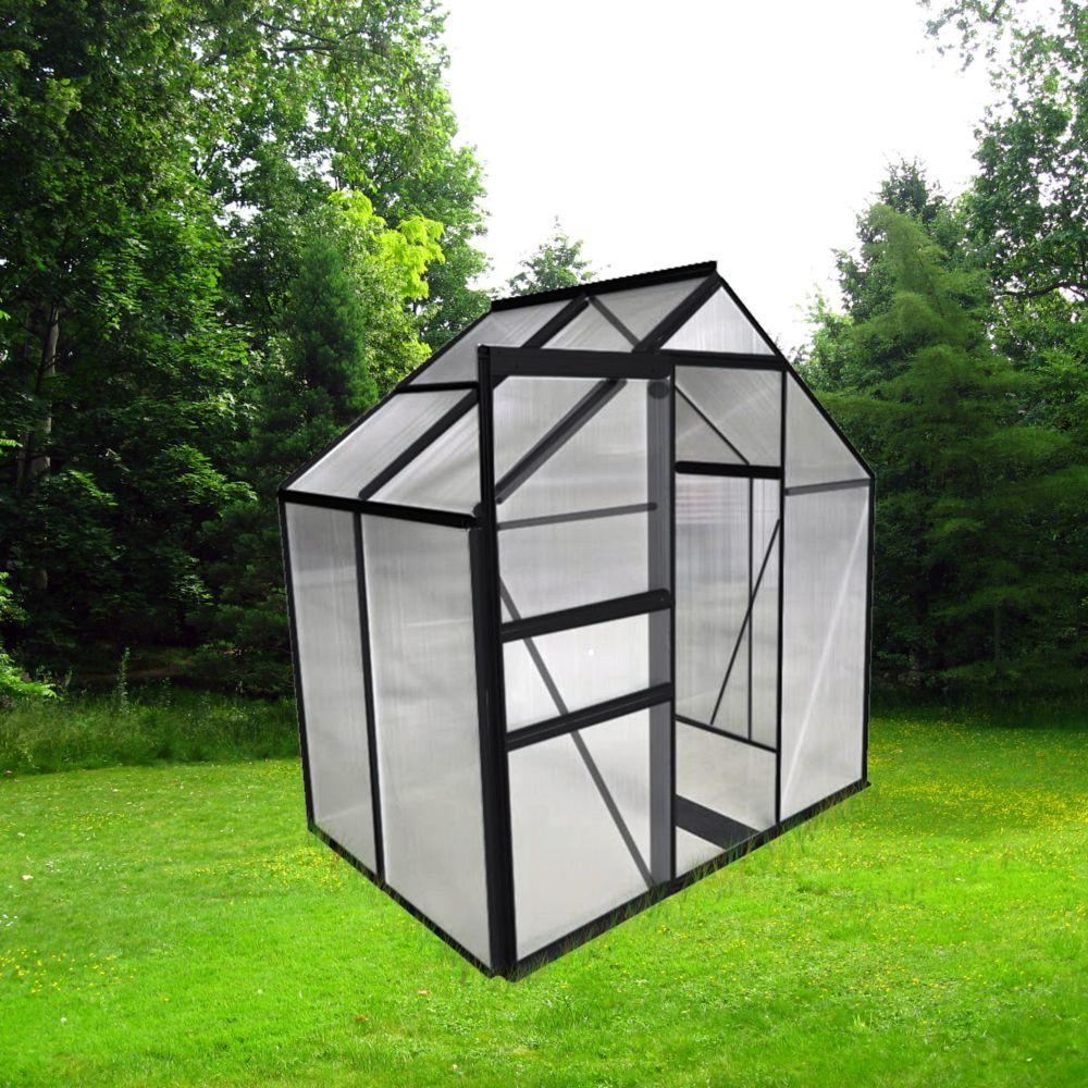 Serre Polycarbonate Anthracite 2.30 M² - Châlet-Jardin dedans Serre De Jardin Polycarbonate