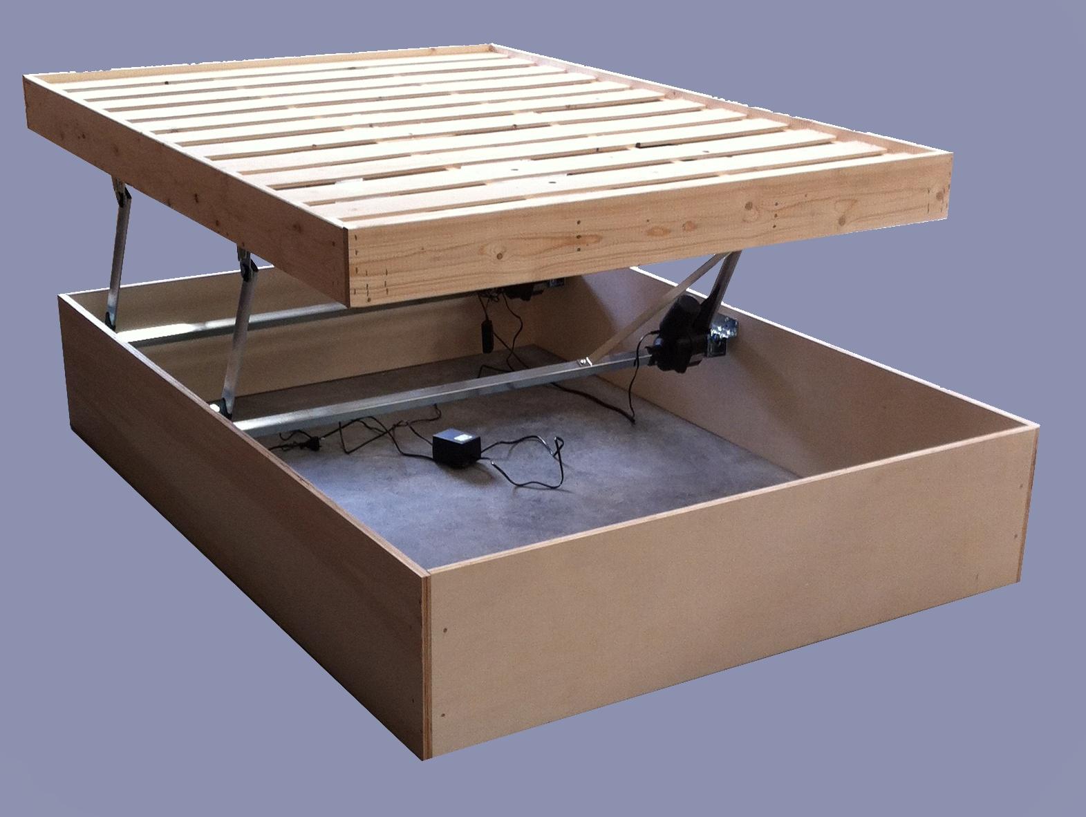Sommier Coffre En Bois Geant 160X200 Ch Ne Sonoma Achat à Lit Coffre Bois