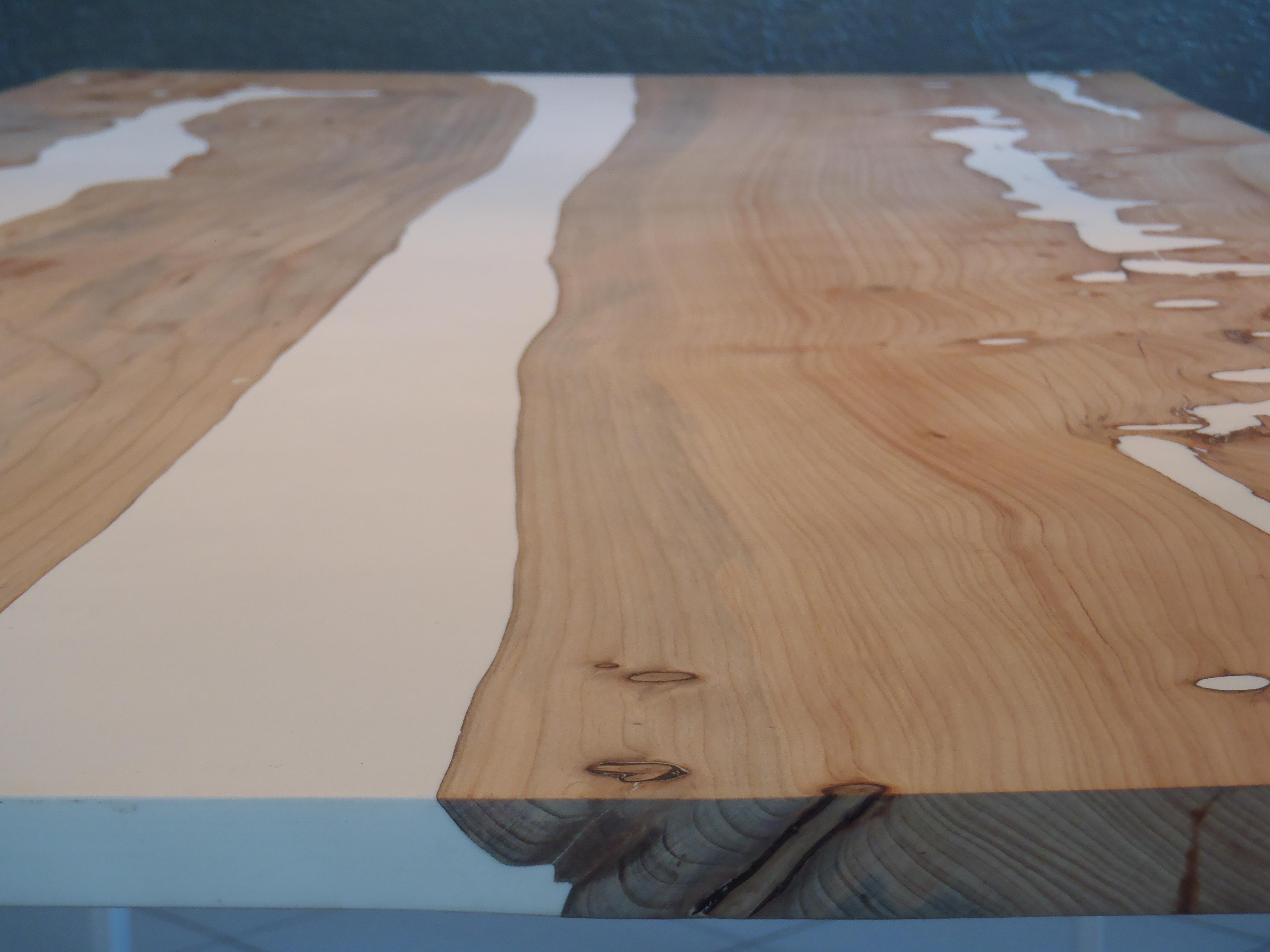 Table À Manger Bois/Résine White River - Boutique Penone pour Table Bois Resine