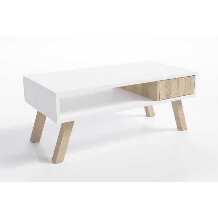 Table Basse Scandinave / Table Basse Bois - Vero Bois - 80 pour Meuble Style Scandinave Pas Cher