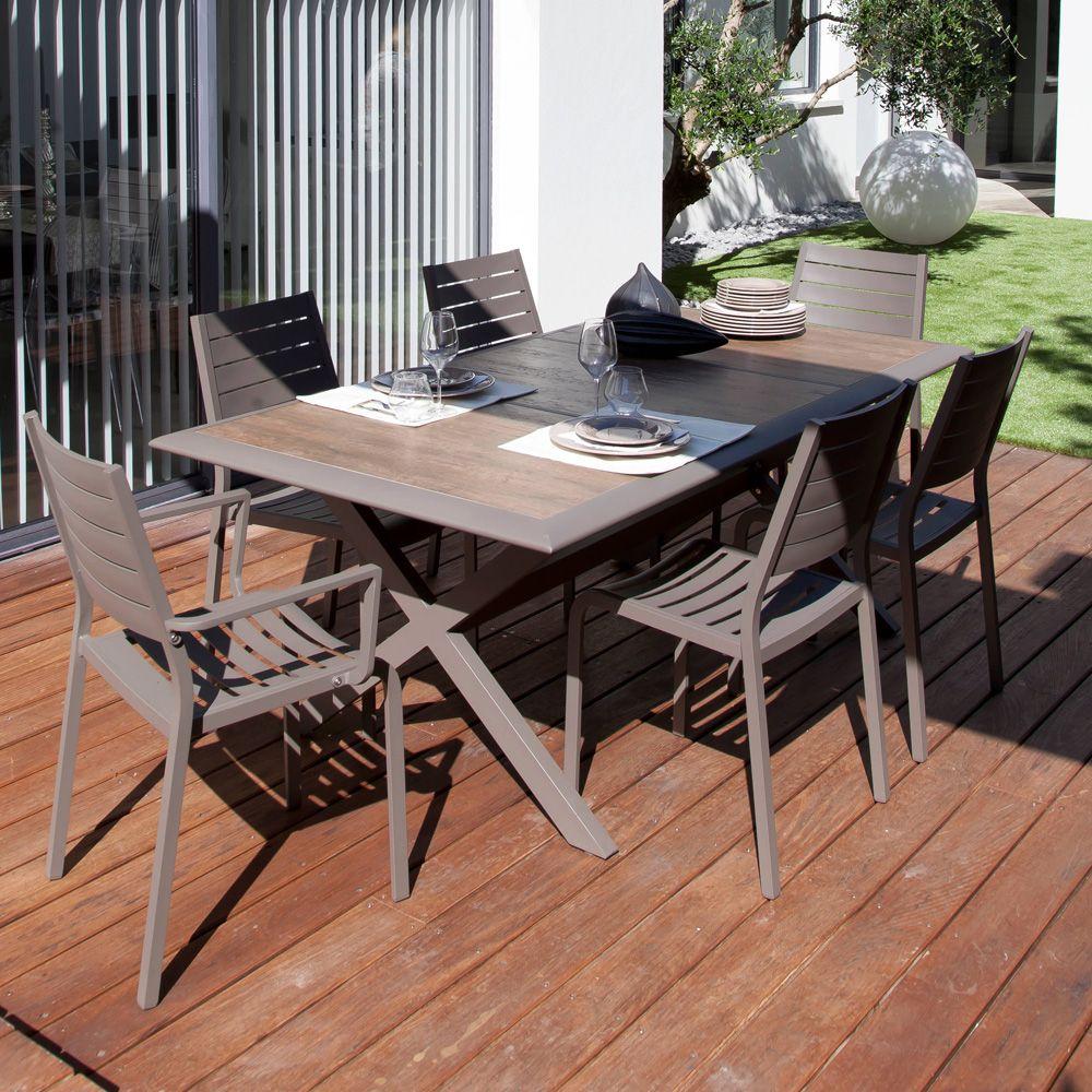 Table De Jardin Ceram Aluminium/Plateau Céramique Café destiné Table De Jardin