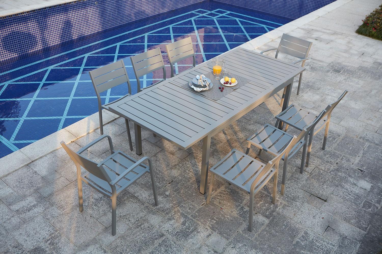 Table De Jardin Extensible En Aluminium Mezzane 8 tout Table De Jardin