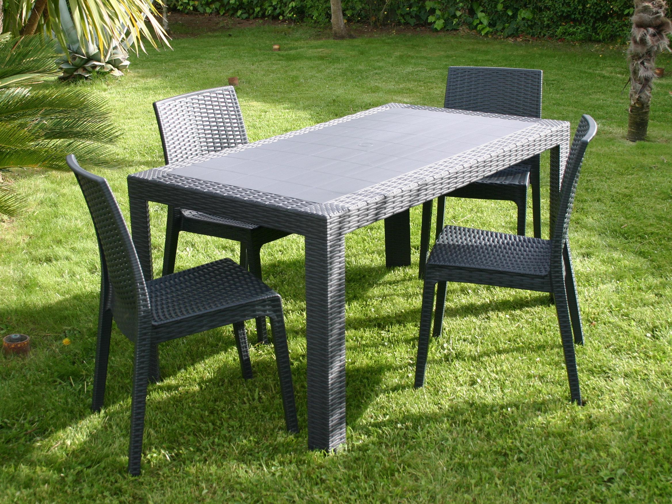Table De Jardin Imitation Resine avec Table De Jardin