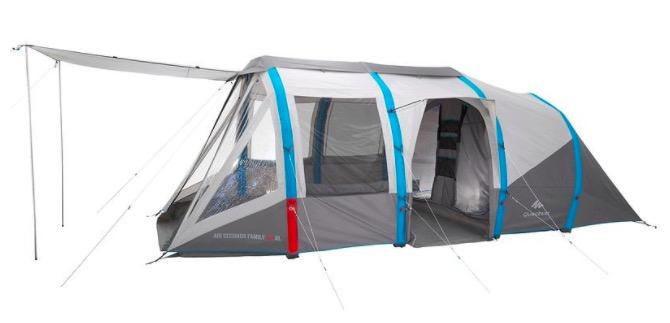 Tente De Camping 6 Places (3 Chambres + 1 Séjour) Air serapportantà Tente De Plage Decathlon