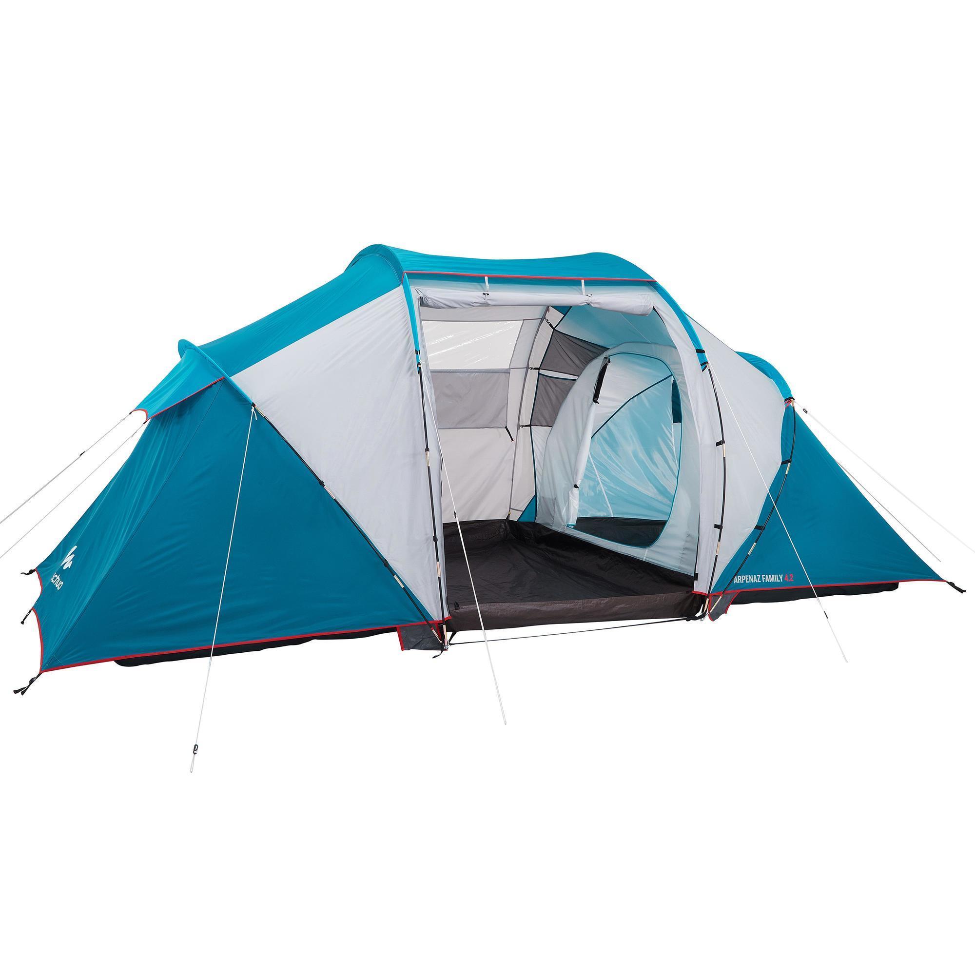 Tente De Camping À Arceaux Arpenaz 4.2 | 4 Personnes 2 serapportantà Tente De Plage Decathlon