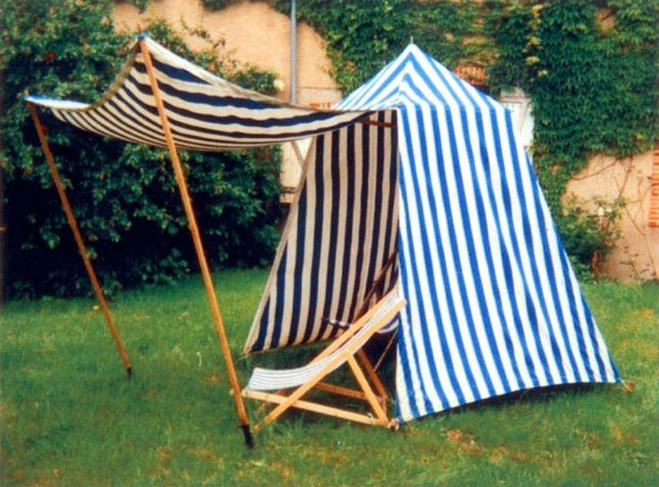 Tente De Plage Royan Avec Auvent, Toiles Rayées Coton Bord pour Tente De Plage Decathlon