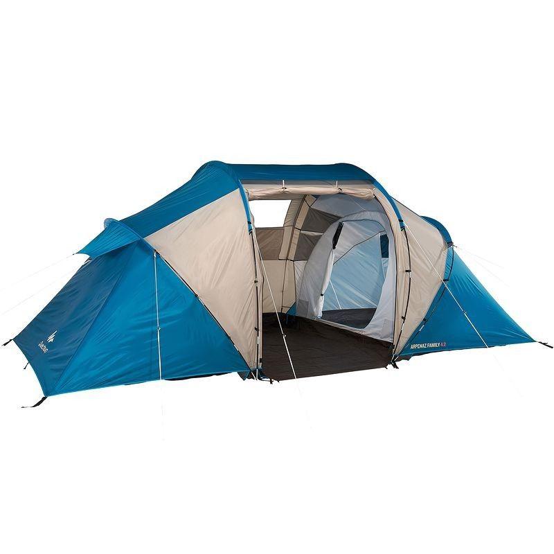 Tente Decathlon - Tente Arpenaz Family 4.2 Quechua encequiconcerne Tente De Plage Decathlon