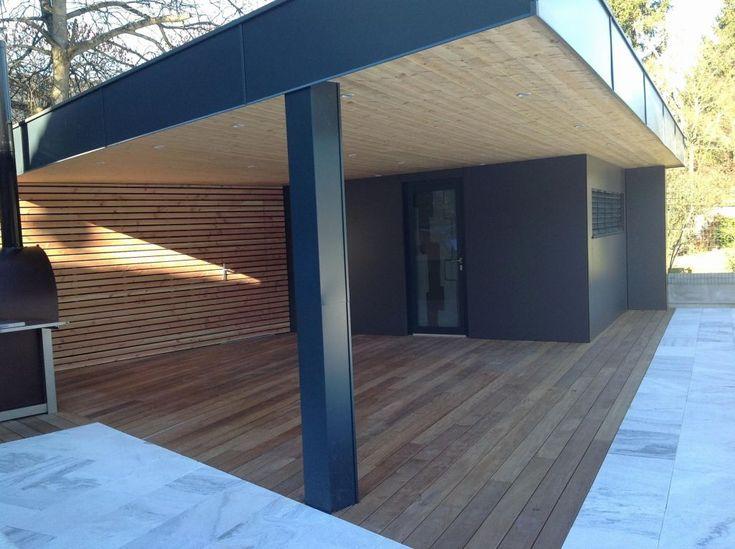 Terrasse Couverte Toit Plat Inspirant Construire Auvent De dedans Abri De Jardin Design Toit Plat