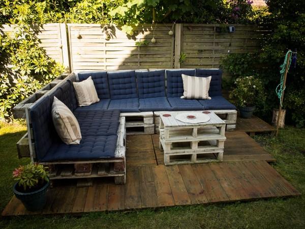 Terrasse En Palette Plan - Veranda-Styledevie.fr intérieur Plan Salon De Jardin En Palette