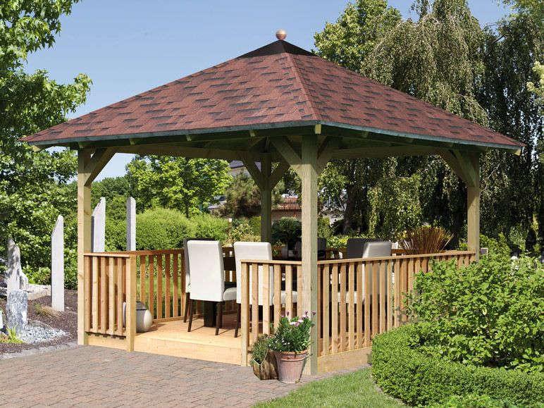 Tonnelle En Bois -Pavillon En Kit - Au Meilleur Prix pour Kiosque De Jardin