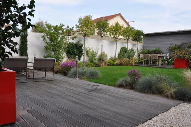 Un Jardin De Ville - Moderne - Terrasse En Bois - Paris - Par Garden Trotter dedans Un Jardin En Ville