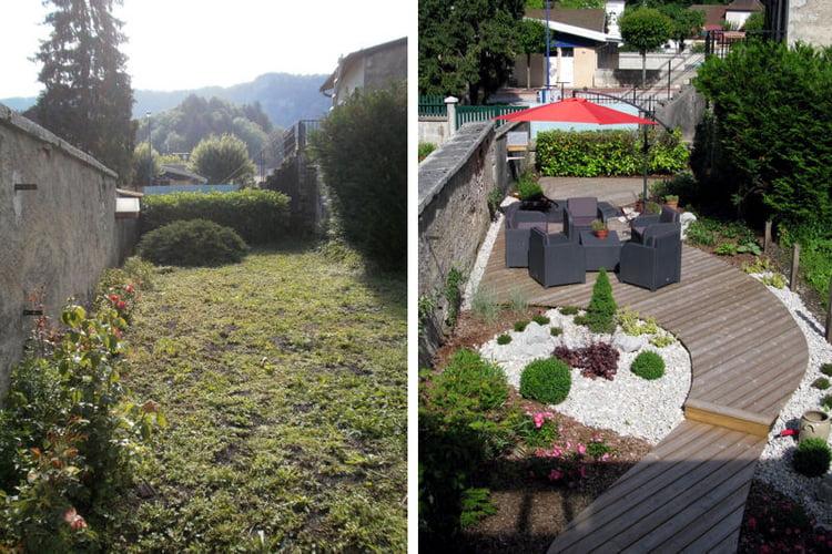 Un Sentier-Terrasse Dans Un Jardin De Ville serapportantà Un Jardin En Ville