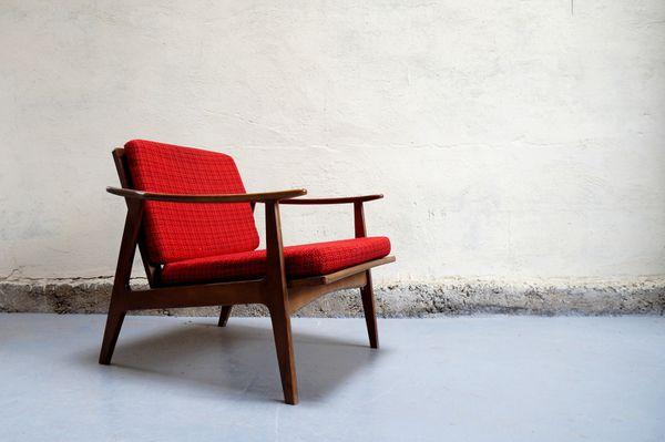 Vendu - Fauteuil Scandinave Chauffeus Design Années 50 60 pour Meubles Scandinaves Vintage