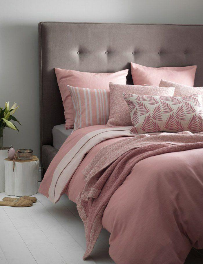 rideau rose fushia et gris