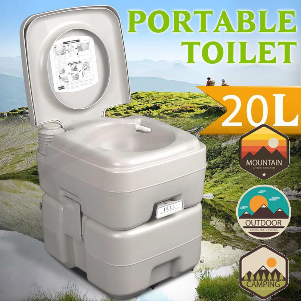 20L Portable Camping Toilet Flush Porta Travel Outdoor avec Toilettes Portables