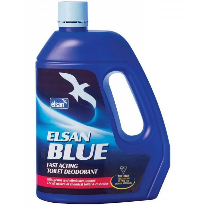 4 Elsan® Bleu 4L Pour Toilettes Chimiques pour Toilettes Chimiques