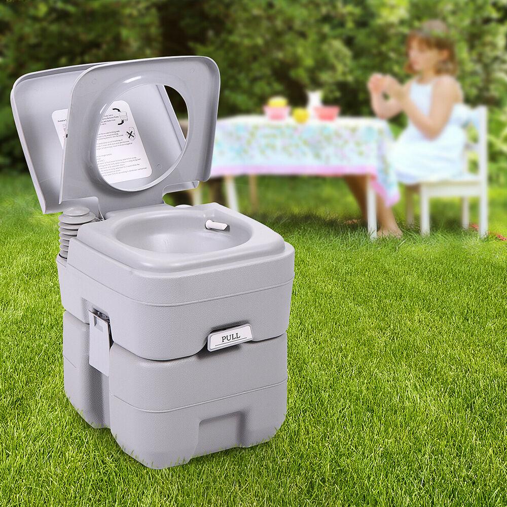 5 Gallon 20L Portable Toilet Flush Travel Camping Outdoor encequiconcerne Toilettes Portables