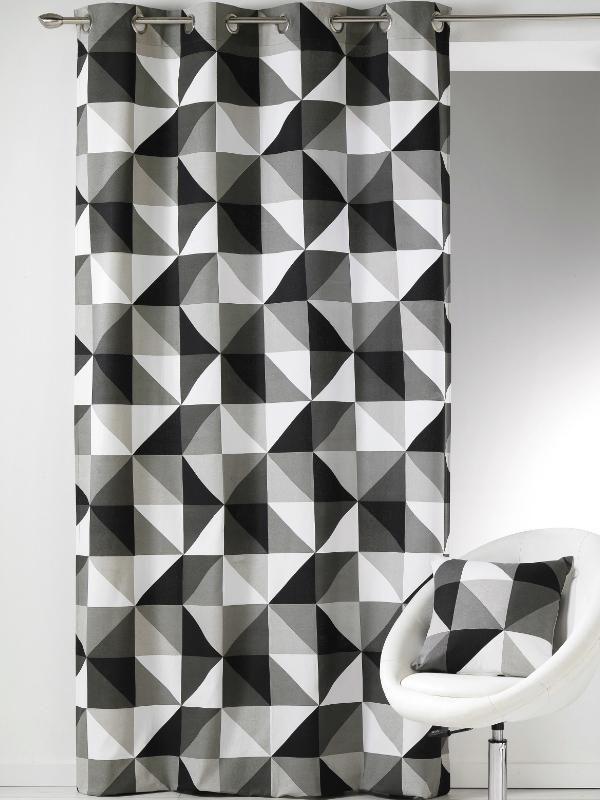 63 Best Noir Et Blanc Images On Pinterest   Black, Cotton tout Rideau Forme Geometrique