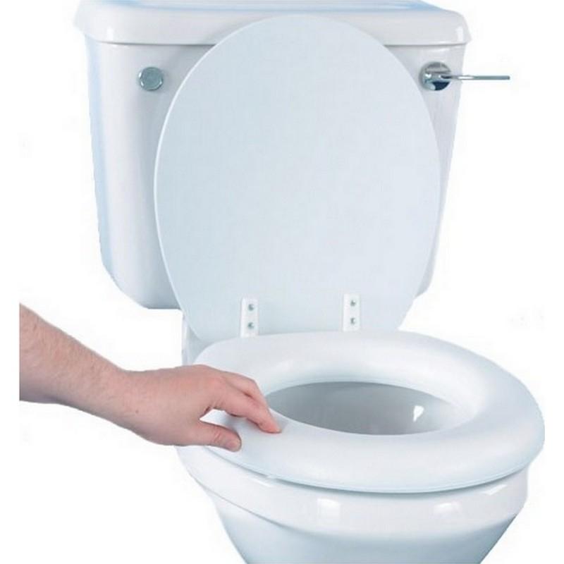 Abattant De Wc Rembourré - Rehausseur Et Cadre De Wc destiné Toilette Rehausse