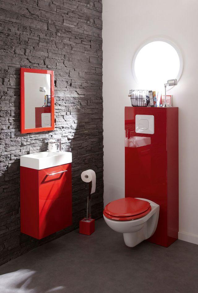 Achat Wc : Les Modèles Tendance   Salle De Bain Rouge tout Toilette Suspendu Leroy Merlin