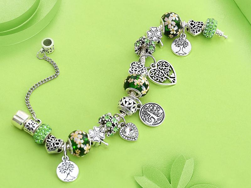 Acheter Vert Arbre De Vie Charme Pandora Bracelet Couleur serapportantà Bracelet Chemin De Vie Avis