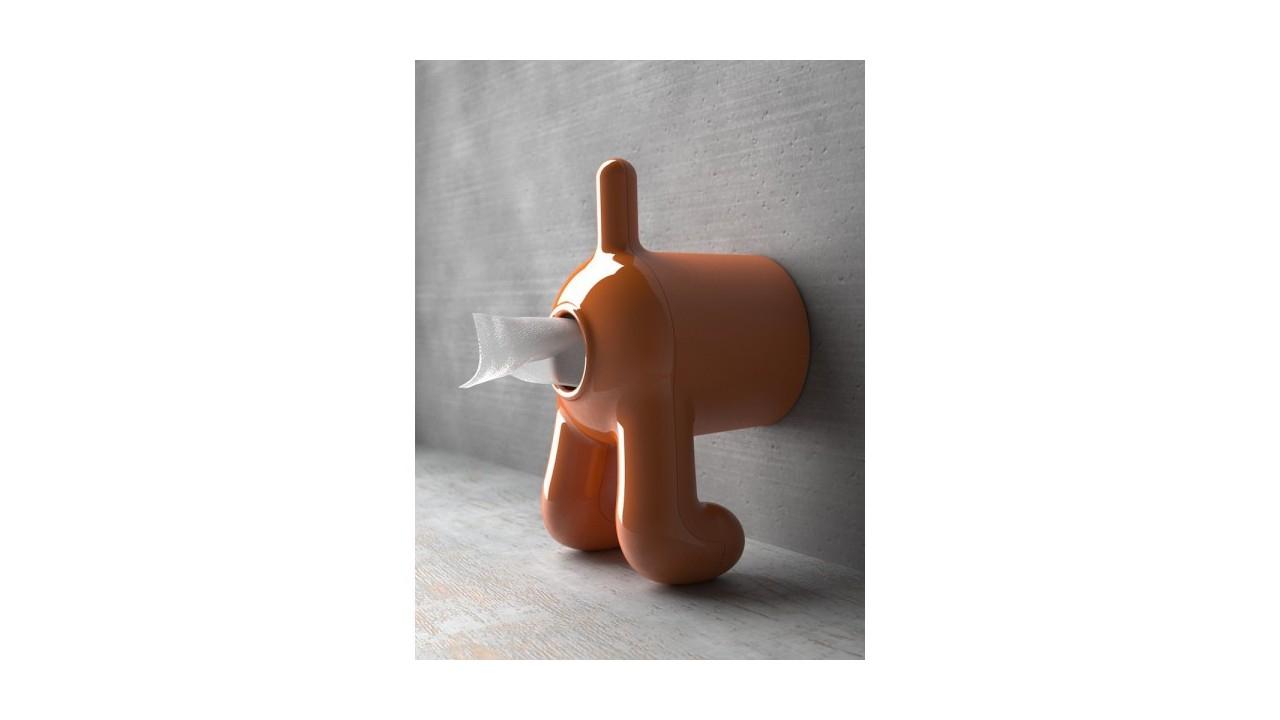 Achetez Votre Dérouleur Papier Wc Docteur Dog Orange encequiconcerne Porte Papier Toilette Sur Pied