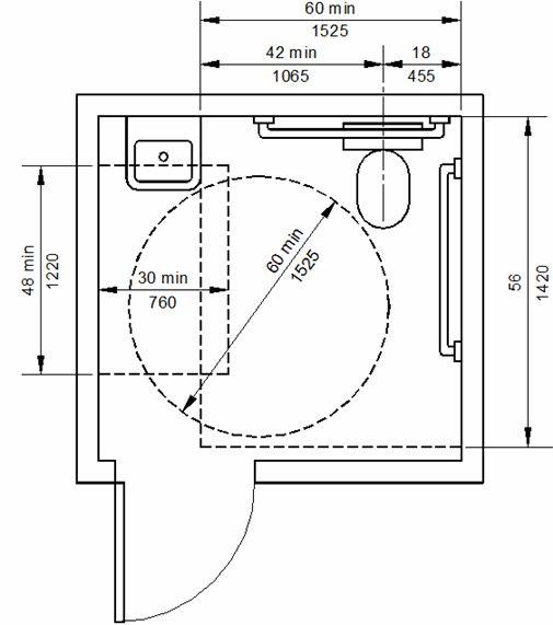 Ada Public Restroom Dimensions   Accessibility destiné Toilettes Handicapés Dimensions