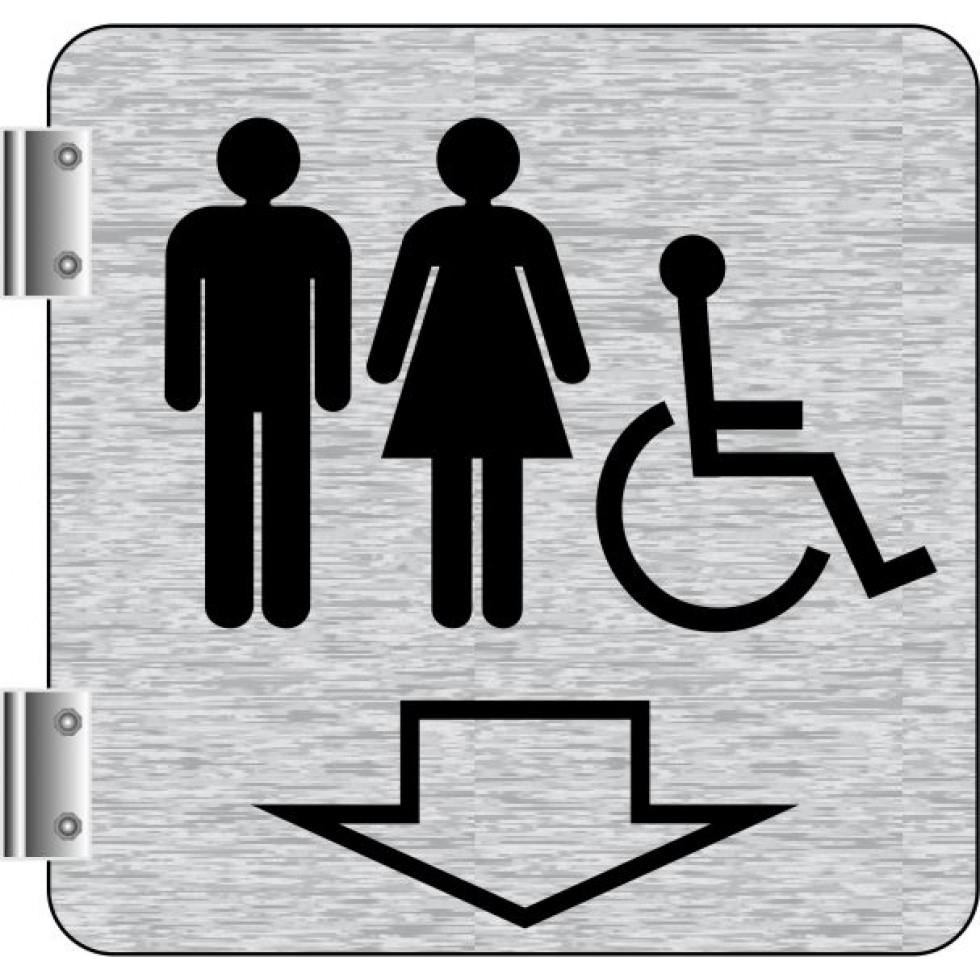 Affiche Signalétique De Corridor: Toilettes Hommes destiné Toilettes Handicapés