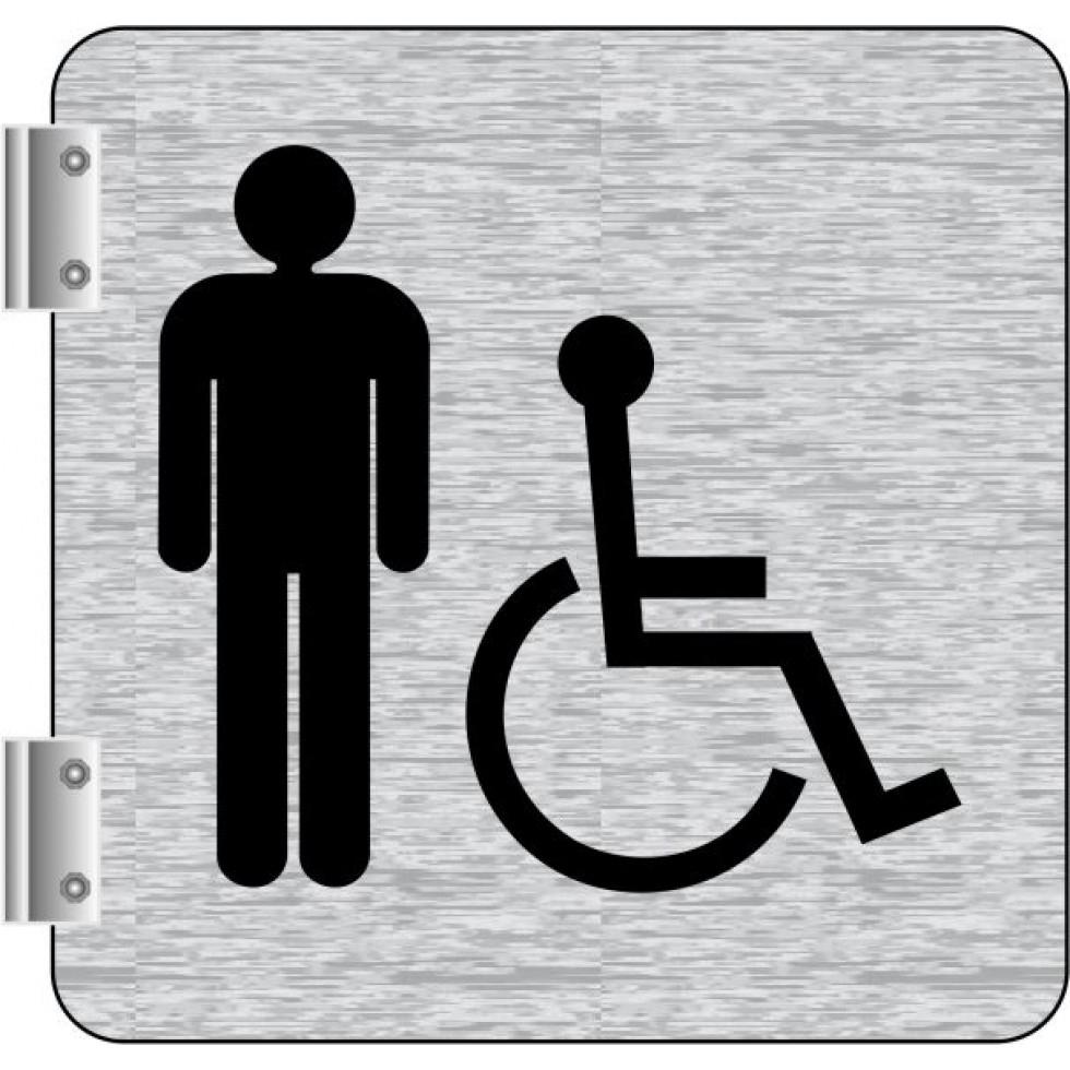 Affiche Signalétique De Corridor: Toilettes Hommes- Handicapés encequiconcerne Toilettes Handicapés