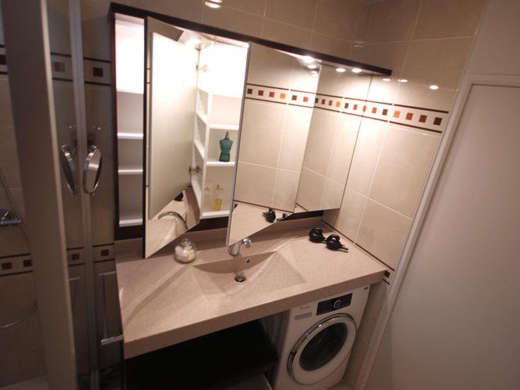 Armoire De Toilette 3 Portes Triptyque Pour Salle De Bains tout Plan De Toilette Sur Mesure