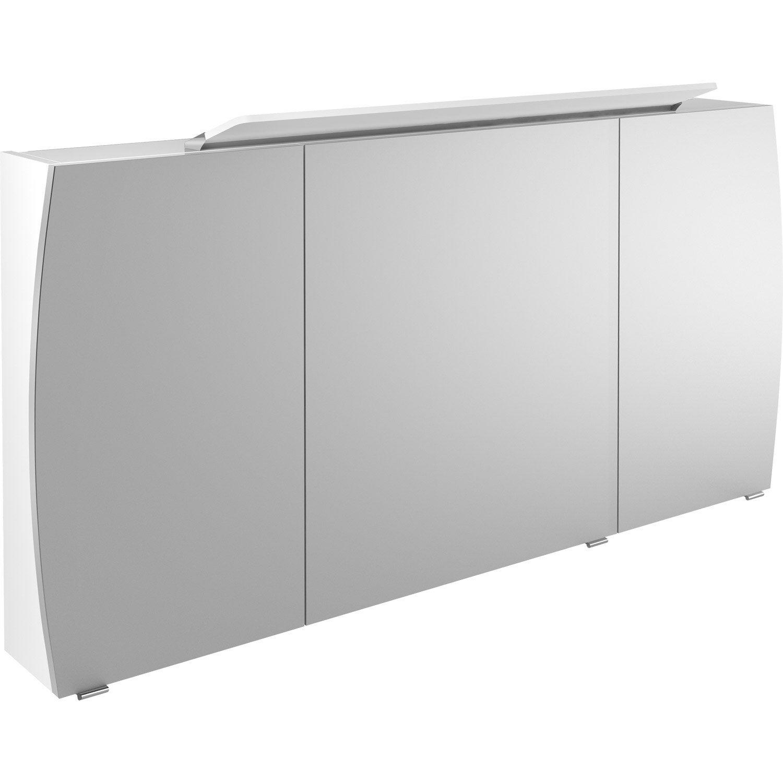 Armoire De Toilette Lumineuse L. 140 Cm, Blanc Image intérieur Toilette Suspendu Leroy Merlin