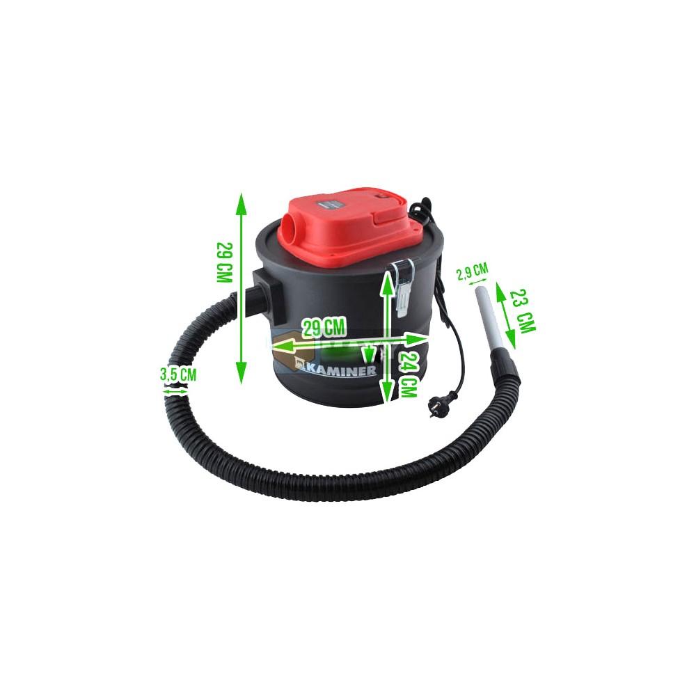 Aspirateur Vide Cendres Cheminée Poêle Hepa 1200W 15L avec Aspirateur Cheminée