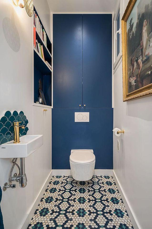 Avant - Après : La Transformation De Cet Appartement dedans Toilette Sous Escalier