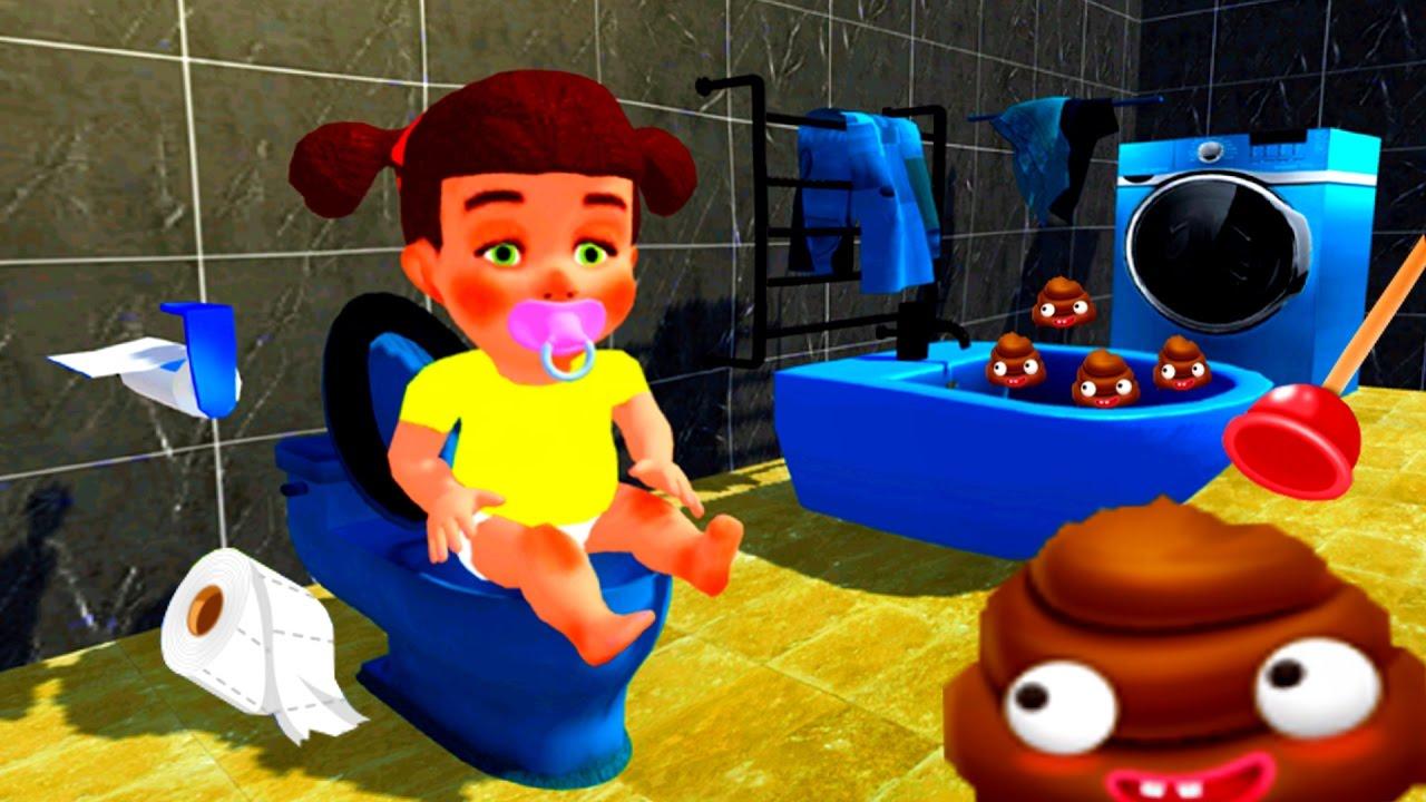 Baby Toilet Training Simulator 3D & Kids Potty Fun Game encequiconcerne Toilette Simulator