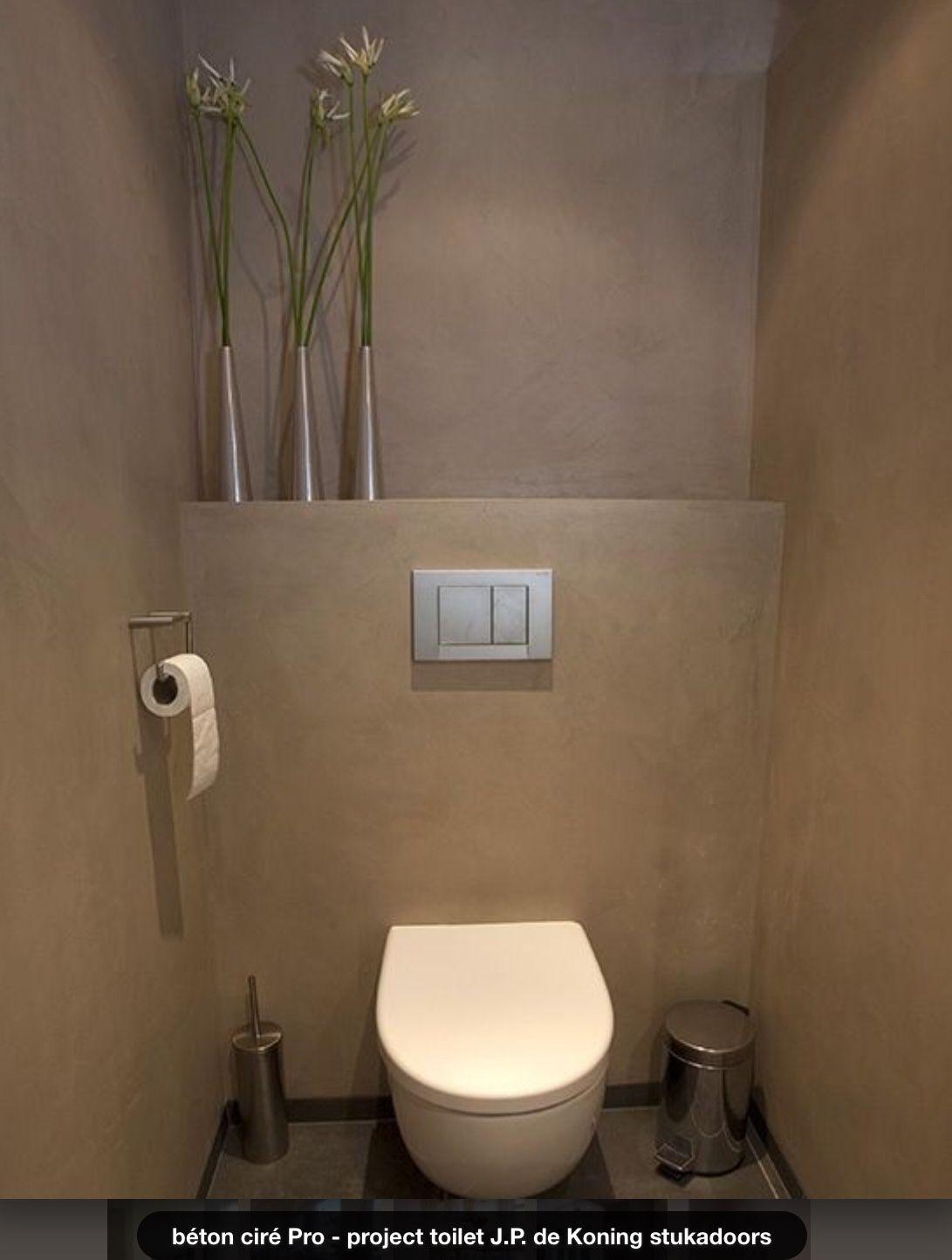 Beton Cire In Toilet, Green Grey   Interieur In 2018 serapportantà Toilette Sous Escalier