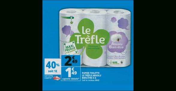 Bon Plan Papier Toilette Le Trèfle Chez Auchan (09/05 - 15 à Trefle Papier Toilette