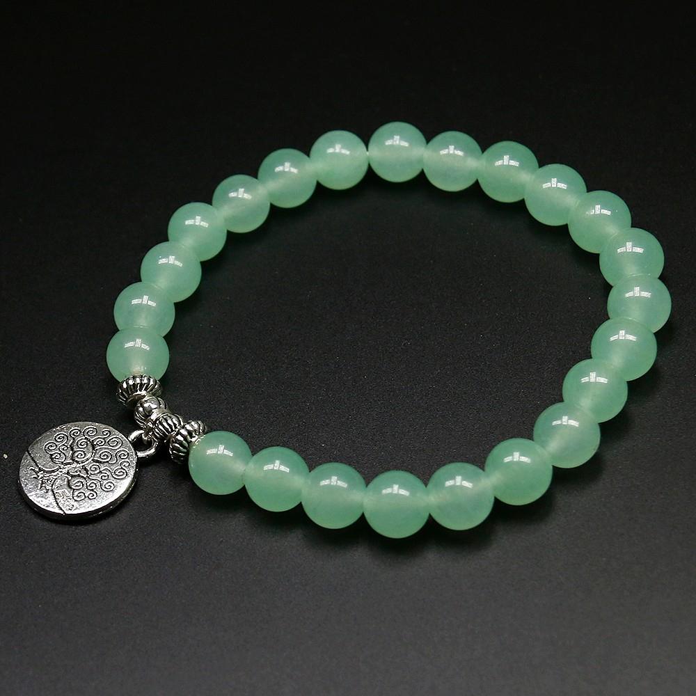 Bracelet Arbre De Vie En Aventurine - Univers Zen dedans Bracelet Chemin De Vie Avis