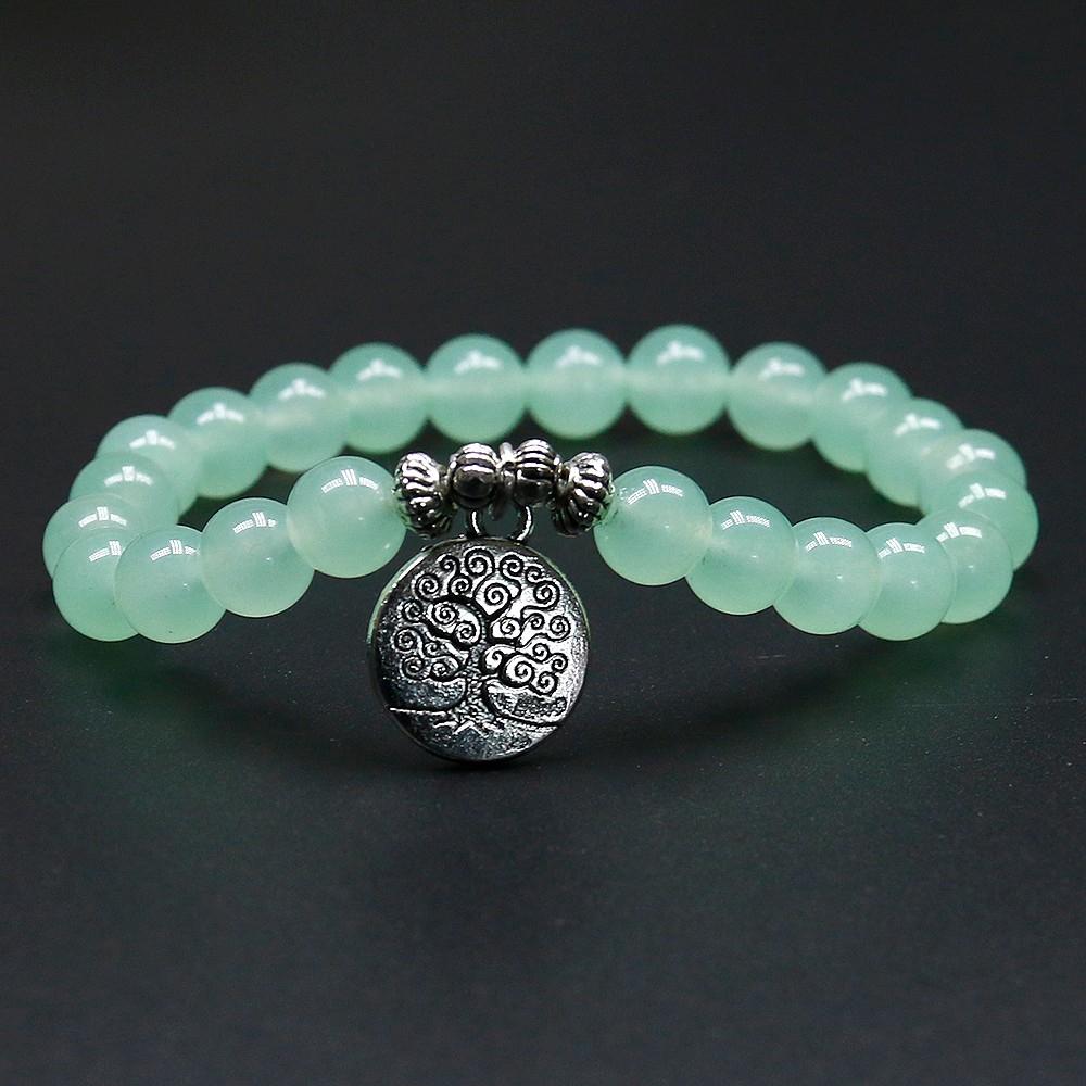 Bracelet Arbre De Vie En Aventurine - Univers Zen destiné Bracelet Chemin De Vie Avis