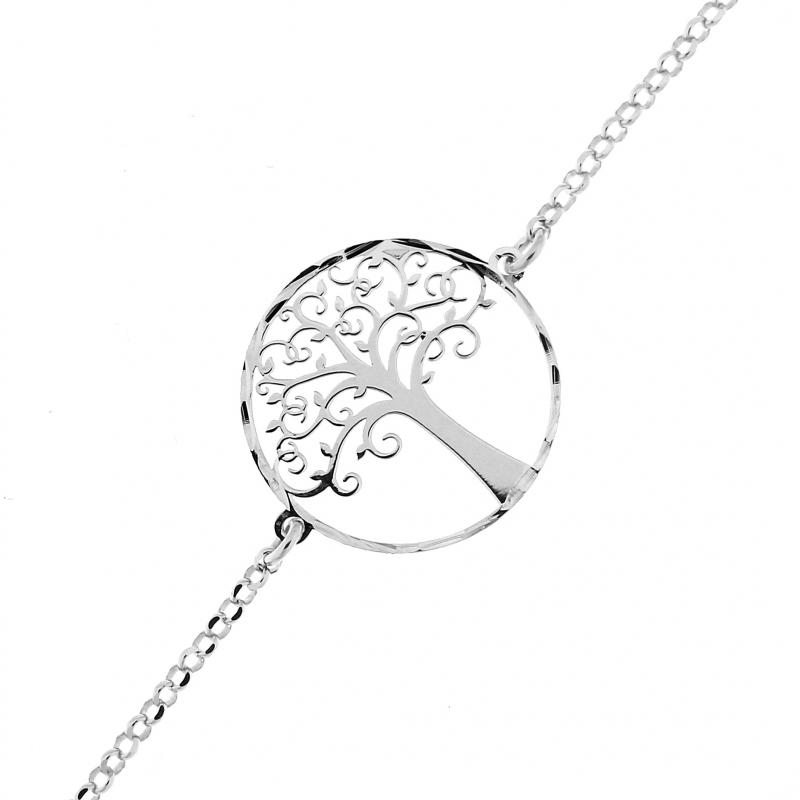 Bracelet Argent Motif Arbre De Vie Ref. 42919 concernant Bracelet Chemin De Vie Avis
