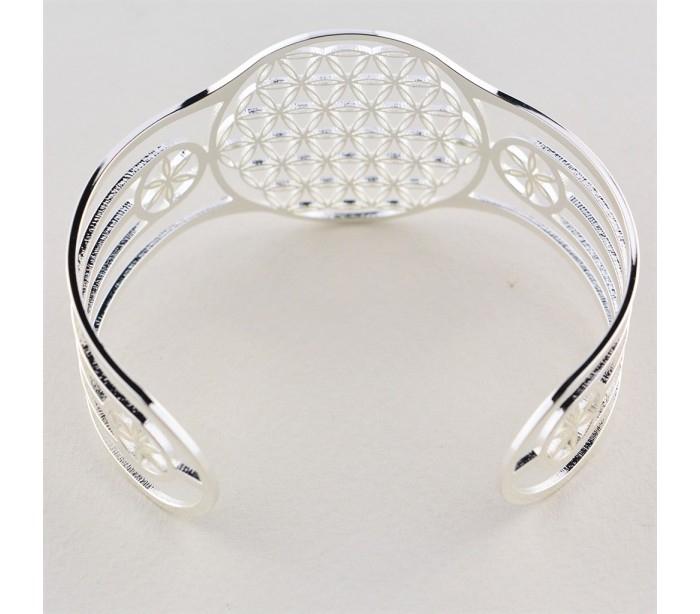 Bracelet Réglable Acier Inoxydable Fleur De Vie - Ananda avec Bracelet Chemin De Vie Avis